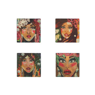 Ladies of the Earth and Sea Stone Magnet