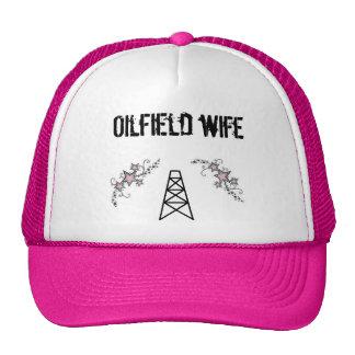 ladies oilfield wife pink hat