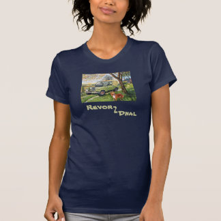 Ladies Old Style Land Rover T-Shirt