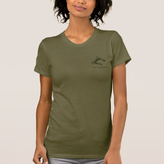Ladies olive green T T-Shirt