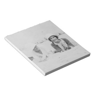 Ladies On Beach Old Image - 40 Page Notepad