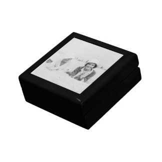 Ladies On Beach Old Image - Square Tile Gift Box