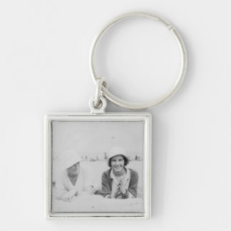 Ladies On Beach - Premium Small Square Keychain