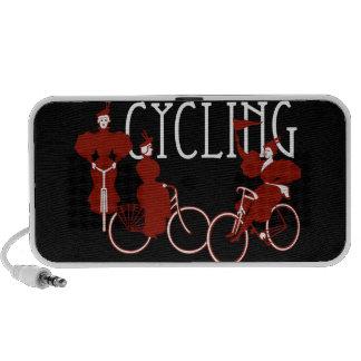 Ladies on Bicycles Laptop Speaker