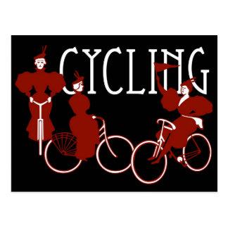 Ladies on Bicycles Post Cards