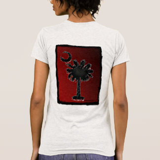 Ladies Palmetto T-Shirt, Red/Black Back Fade T-Shirt