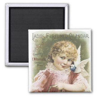 Ladies Perfume Calendar 1894 Square Magnet