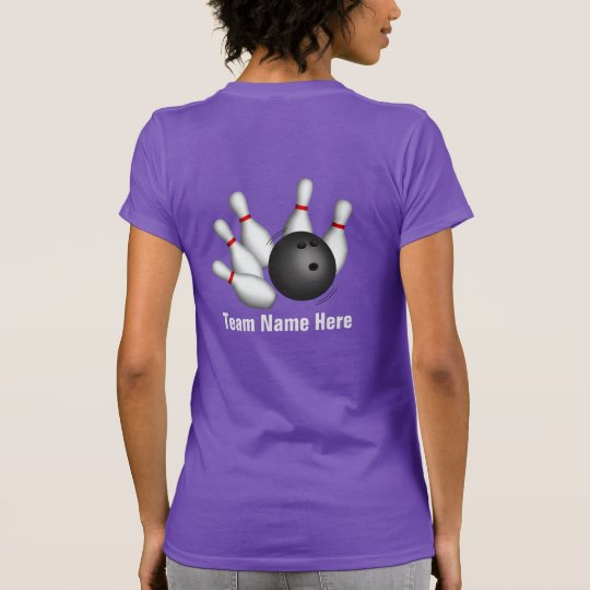 Ladies Personalised Team Bowling Shirt