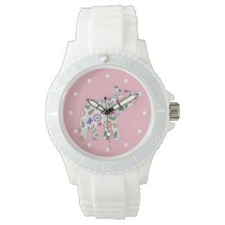 Ladies Pink Elephant Nature Designer Watch
