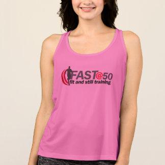 Ladies Pink FAST@50 Running Vest Tank Top
