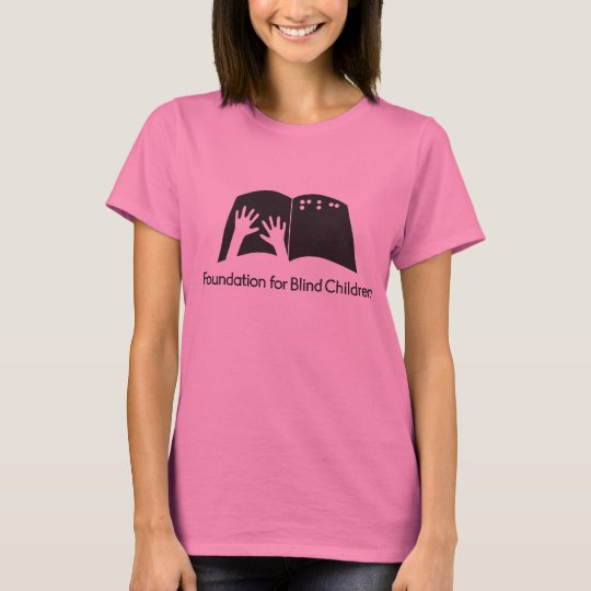 Ladies pink tee with FBC logo