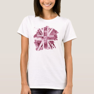 Ladies Pink Union Jack TShirt