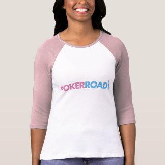 Ladies PokerRoad Baseball tee
