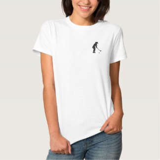 Ladies Polo Golf Shirt Top Embroidered