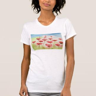 Ladies poppy art T-shirt