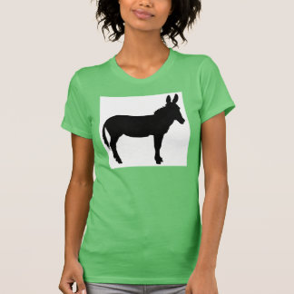 Ladies racer back top with donkey logo