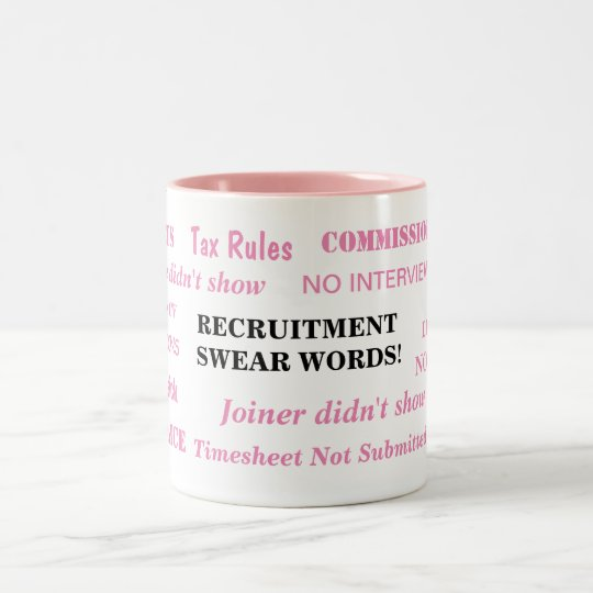 Ladies Recruitment Swear Words Special Funny Joke Two-Tone