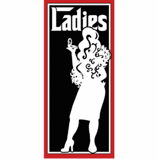 Ladies Restroom/Bathroom sign Photo Sculpture Decoration