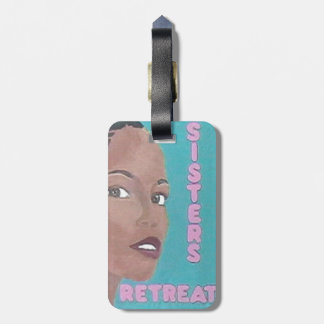 Ladies Retreat Luggage Tag w/leather strap