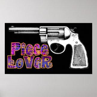 Ladies Revolver Gun Piece Hippy Art Print