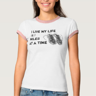 Ladies' Ringer - Life 13.1 miles at a time T-Shirt