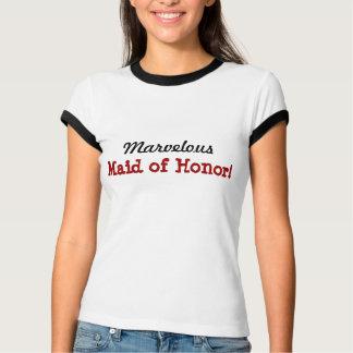 Ladies Ringer TShirt Marvelous Maid of Honor