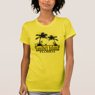 Ladies Sanibel Island Florida palm tree tee