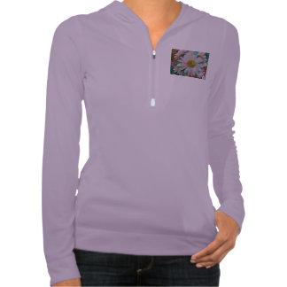 Ladies shirt purple with flower print