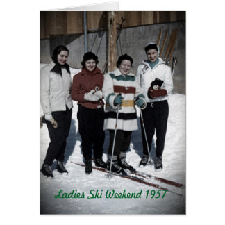 Ladies Ski Weekend 1957 Photo Card