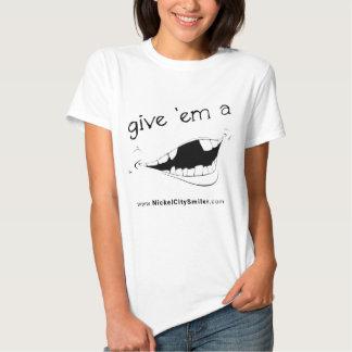 Ladies Smile Tee-shirt Tshirts