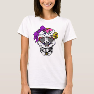 Ladies Sugar Skull T-Shirt