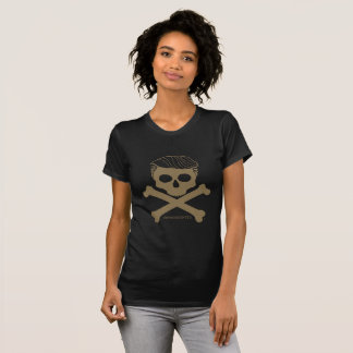 Ladies T- black with gold logo T-Shirt