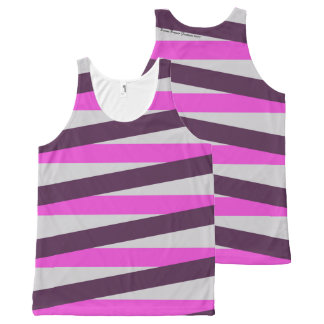 Ladies Tank Top with Bold Stripes All-Over Print Tank Top