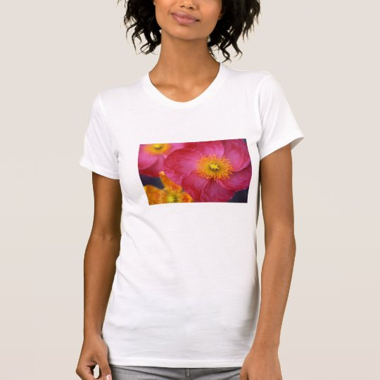 Ladies tee-shirt with a colour photo of a flower T-Shirt