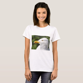ladies' tee shirt with seagull image and poem