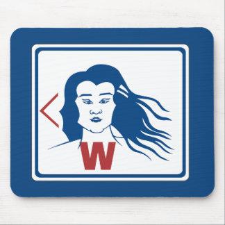 Ladies' Toilet Sign, Thailand Mousepad