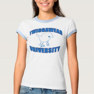 Ladies Twigga Blu/Wht Ringer T-Shirt
