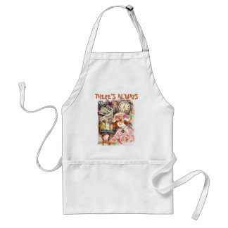 Ladies Vintage Coffee Apron