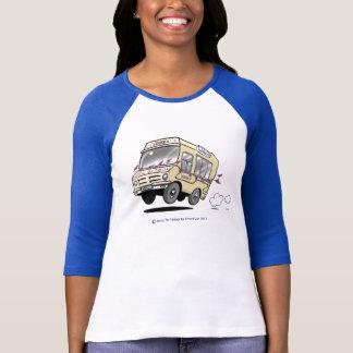 Ladies Vintage Style Daisy Baseball Shirt
