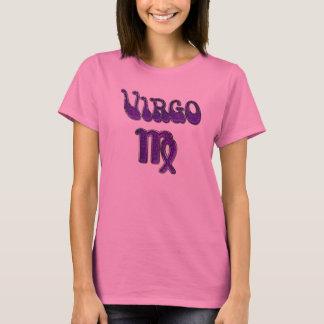 Ladies Virgo Shirt in Purple on Pink