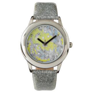 Ladies Watches Custom Silver Glitter