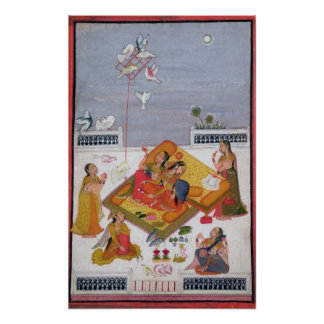 Ladies Watching Pigeons, 1770 Poster