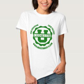 Ladies White Baby Doll Radiation Logo T-Shirt