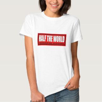 LADIES WHITE BABY DOLL (RED LOGO) T-SHIRT