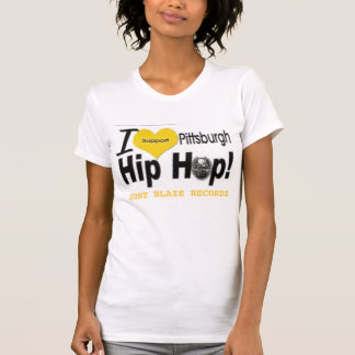 Ladies White JBR I Support PGH Hip-Hop Camisole Tees
