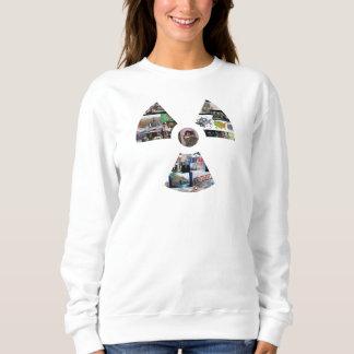 Ladies' White Radiation Symbol Classic Sweatshirt