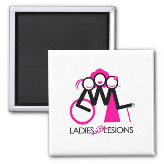 Ladies With Lesions Square Magnet