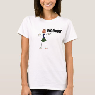 Ladies WODeva' shrugging kettlebell  t-shirt