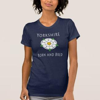 Ladies Yorkshire Born and Bred Dark Tee