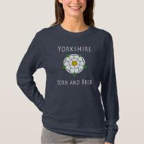 Ladies Yorkshire Born & Bred Long Sleeved Tee